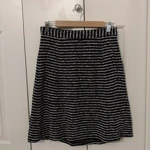 Theory Size 4 Skirt | Black and White Stripe
